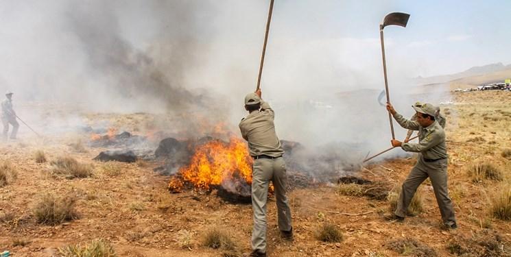 آتش سوزی در جنگل جعفر آباد گرگان مهارشد/در صورت بروز آتش سوزی مردم با تلفن 1504 تماس گیرند