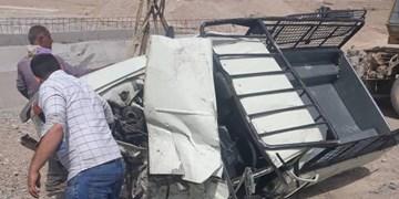 سقوط خودروی پیکانوانت در محور آرادان- سرخه