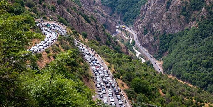 ترافیک سنگین در کندوان و جاده فیروزکوه/تردد کامیون امروز و فردا در هراز ممنوع است
