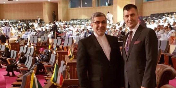 حضور سفیر ایران در مراسم تحلیف رئیس جمهور موریتانی