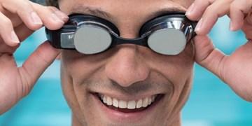 عینک شنای واقعیت افزوده اطلاعات محیطی را نمایش می دهد