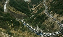 ترافیک سنگین در آزادراه قزوین-تهران/هراز و کندوان در صورت افزایش ترافیک امروز هم یک طرفه میشود