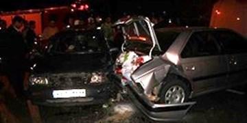 واژگونی پژو 405 با 2 کشته و مجروح در رودان