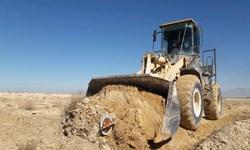 ۳۶ هزار مترمربع از اراضی ملی ورامین رفع تصرف شد