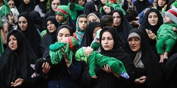 ابراز ارادت شیرخوارگان حسینی به دردانه سیدالشهدا(ع) در ارومیه