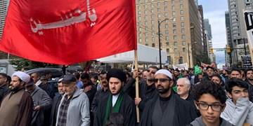 راهپیمایی عزاداران سالار شهیدان به مناسبت تاسوعای حسینی در کانادا + فیلم و عکس