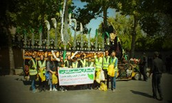 پاکسازی مسیر عزادارن حسینی شیراز