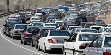 پرحجم بودن ترافیک در جاده رشت به قزوین