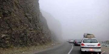 بارش باران در مازندران و مهگرفتگی در فیروزکوه/ ترافیک در تهران-کرج و لواسان