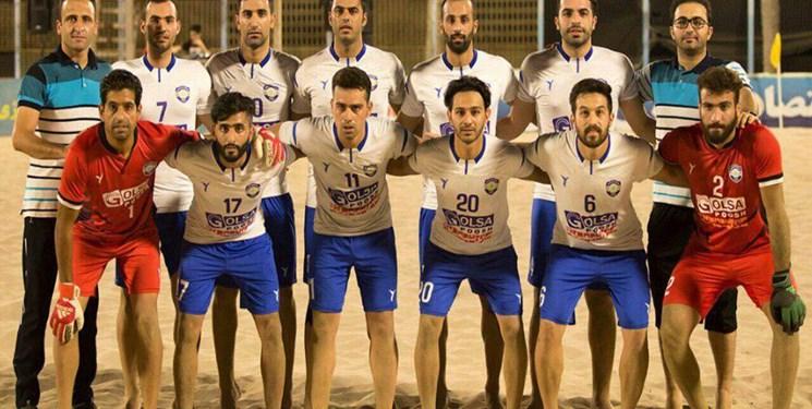 لیگ برتر فوتبال ساحلی  قهرمانی گلساپوش در یک بازی تشریفاتی