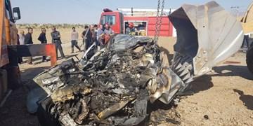 تصادف مرگبار پژو 405 با اسکانیا/3 نفر کشته شدند