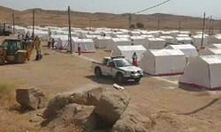 «چادرهای امید» این بار «چادرهای ارادت» شدند/ برپایی 2 اردوگاه اضطراری اسکان در مرز خسروی