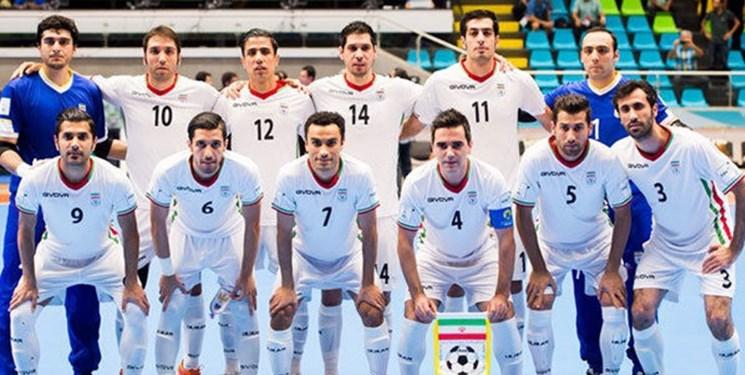 تیم ملی فوتسال ایران اول آسیا و ششم جهان