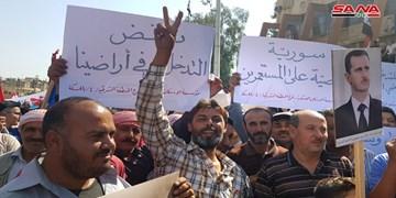 تظاهرات در حسکه سوریه و تأکید بر اخراج اشغالگران آمریکا و ترکیه