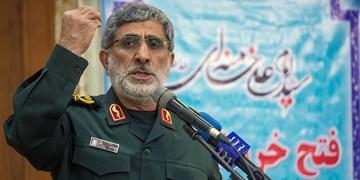 سردار قاآنی: آمریکا چیزی جز زبان زور نمیفهمد/ خون شهدای مقاومت راه قدس را آزاد خواهد کرد