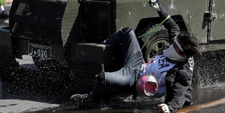 ادامه ناآرامیها در شیلی؛ سانتیاگو میدان جنگ معترضان با پلیس