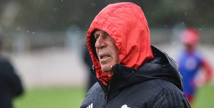 تمرین تیم تراکتور زیر باران