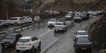 رصد تردد جاده ای با 2300 ترددشمار/ ترافیک سنگین در آزادراه قزوین-کرج