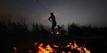 تظاهرات صدها فلسطینی در مرز نوار غزه برای حمایت از «بیتالمقدس»