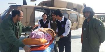 پرواز بالگرد اورژانس برای نجات زن باردار