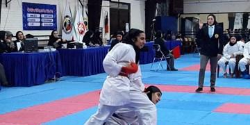 شروع نوسانی الو پرده گیلان در لیگ برتر کاراته بانوان