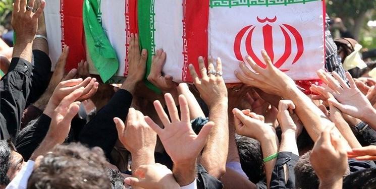 پیکر شهید امنیت «سروان رضا صیادی» در شوش دانیال تشییع شد