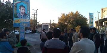 رونمایی از المان دو شهید در شهرستان اردکان+تصاویر