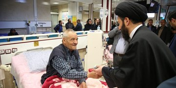 عیادت امام جمعه اردبیل از بیماران کلیوی