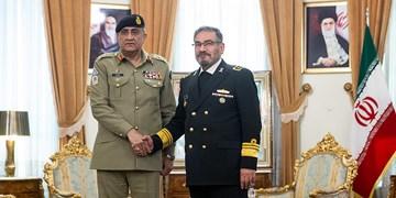 دیدار فرمانده ارتش پاکستان با علی شمخانی