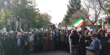 حضور مردم «باب الرضا» سرمای هوا را شکست / موضع شدید بجنوردیها علیه اغتشاش