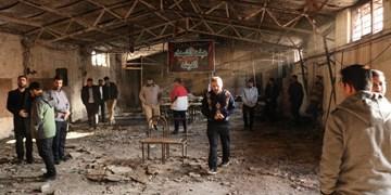خسارت ۵۰۰ میلیون تومانی اغتشاشگران به یک حسینیه/ روضهخوانی در عزاخانه سوخته +عکس و فیلم