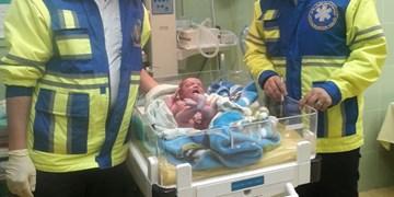 اولین گریه نوزاد عجول هدیه به اورژانس کشکسرای