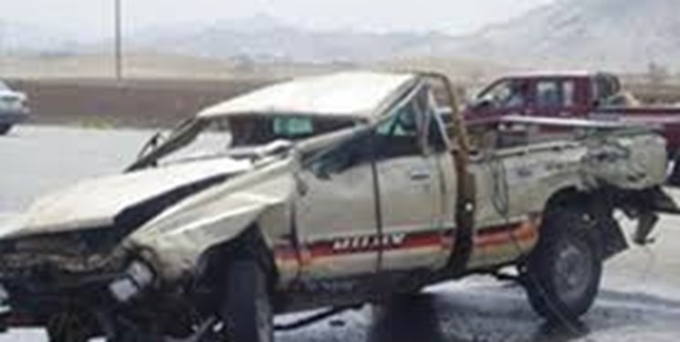 برخورد رخ به رخ 2 وانت حامل سوخت در میرجاوه/5 نفر کشته شدند
