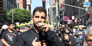روضه شبیهسازیشده از هیأت محمود کریمی در لسآنجلس+فیلم
