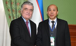 دیدار رئیس گروه ناظران سازمان شانگهای با معاون اول وزیر خارجه ازبکستان