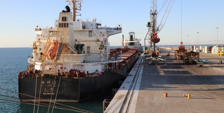 پهلوگیری کشتی حامل 67 هزار تن گندم 21 فروردین در چابهار/ برنامه ریزی ورود 5 کشتی کالای اساسی در ماه جاری
