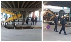 جزئیات حادثه فرونشست زمین در خیابان میرفندرسکی اصفهان