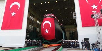 اولین زیردریایی بومی ترکیه به آب انداخته شد/اردوغان: از سوریه و لیبی عقبنشینی نمیکنیم