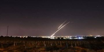 فیلم  شلیک راکت از غزه به سوی شهرکهای صهیونیستی