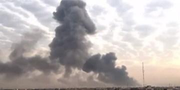 انفجار مهیب در بندر «نشطون» استان المهره یمن