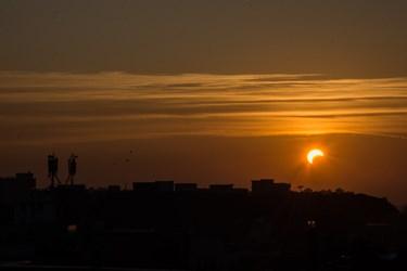 خورشید گرفتگی در پهنه تهران رویت شد