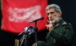 سردار قاآنی: معامله قرن مرده به دنیا آمده است/ تا سقوط آمریکا و صهیونیسم در کنار ملت فلسطین هستیم