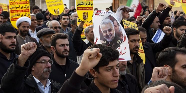 راهپیمایی مردم کرمانشاه در پی شهادت سردار«سلیمانی»