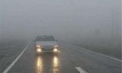 مه گرفتگی در برخی محورهای استان فارس