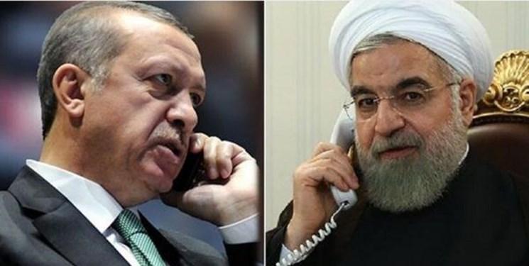 روحانی به اردوغان: باید تلاش کنیم تبادلات تجاری ایران و ترکیه استمرار داشته باشد