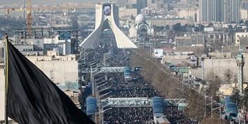 الجزیره: سیل عزاداران قاسم سلیمانی تهران را در نوردید/ احتمال انتقام بعد از پایان عزاداری