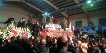 مراسم وداع با پیکر شهید «طارمی» در ورزشگاه فارابی