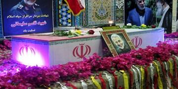 تشییع نمادین شهید سپهبد سلیمانی در بندر دیر/ ادای احترام دیریها به سیدالشهدای مقاومت