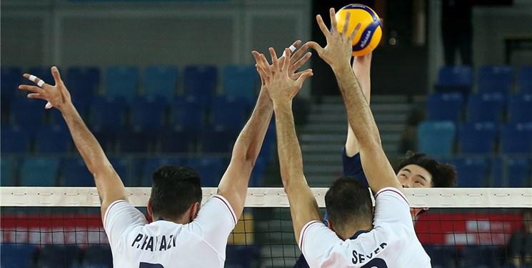 والیبال انتخابی المپیک| پیروزی مقابل کرهجنوبی به کمک اشتباهات حریف و دفاع برتر