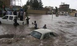 رهاسازی ۴ خودرو از سیلاب فریمان/ سیلاب خسارت جانی نداشت